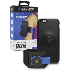 Quad Lock Run Kit iPhone 6/6s Blå/Svart
